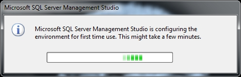 3. SQL Server Management Studio will open.