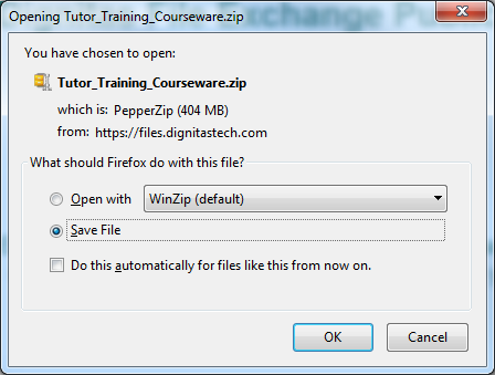 Figure 5 Firefox download prompt 6.
