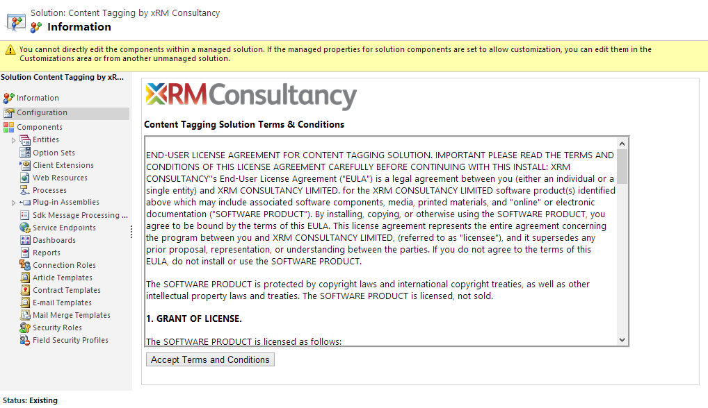 Download for free Tagging from xrm Consultancy is currently available as a free or purchased managed solution download. The free solution allows you to create up to 25 tag connections.