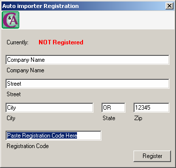 Page 2 of 9 i. Go to Help\Register ii. Enter the name of your company exactly as it is described in the registration information that provides the registration key, even if it is spelled incorrectly.
