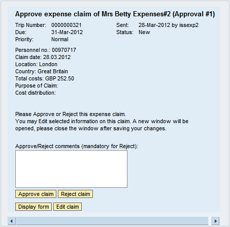 5 - Certifying Claims To certify claims the Approver or Checker should click Universal Worklist from the ESS homepage.