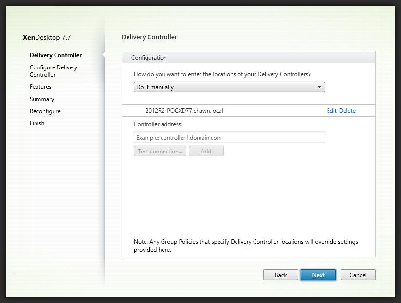 4. Deploy 2012R2 Virtual Desktop Agent 7.7 (Multisession) Server Follow the Server Deployment procedure and select the 2012R2 Virtual Desktop Agent 7.