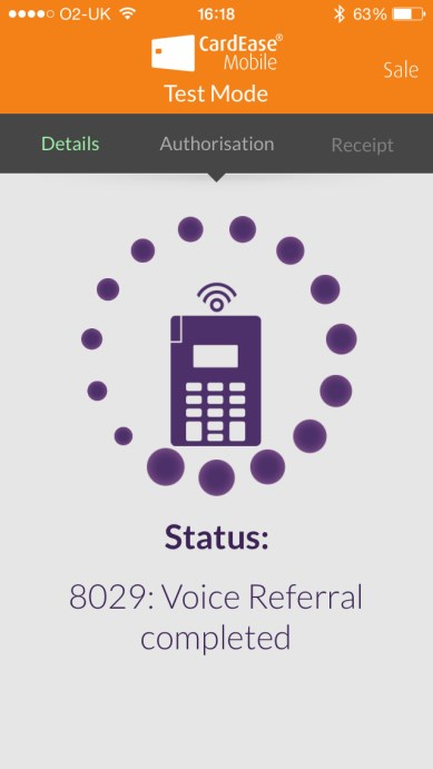 4.4 Using CardEase Mobile Voice referral (continued) Call the number shown on your iphone from any handset.
