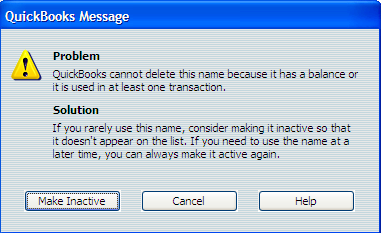 4. Click Delete Vendor The Delete Vendor dialog box appears. 5. Choose OK. Choose Cancel to cancel the deletion and leave the Vendor in the list.