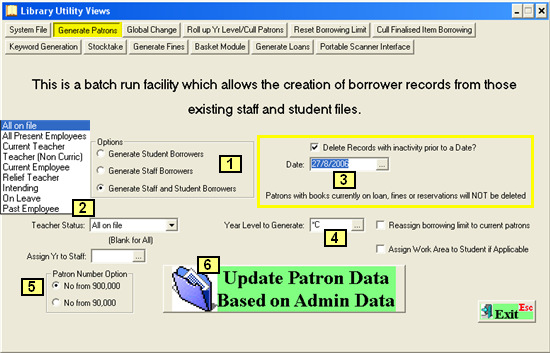 You will need to Generate Student Patrons every year to update their details to the next year level.