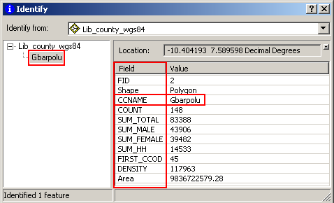 17 Task 3: Exploring and query map data under ArcMap environment 1.