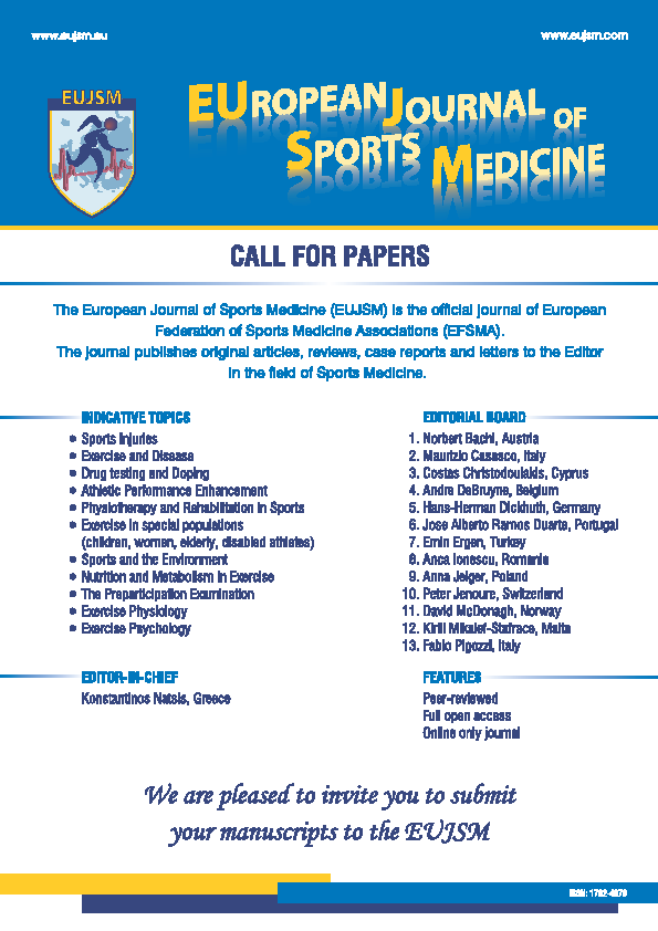 Official electronic journal of the European Federation of Sports Medicine