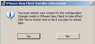 18. You must restart the computer for the installation to complete. Please click on the Yes button. 19. After the computer reboots, log in and start your Internet Browser 20.