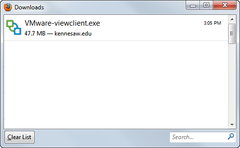 4. Under VMware View Client for Windows, click the Download the Virtual Owl Desktop Client for Windows 7 or Higher (32 and 64 bit) link (See Figure 3). Figure 3 - VMWare View Client for Windows. 5.