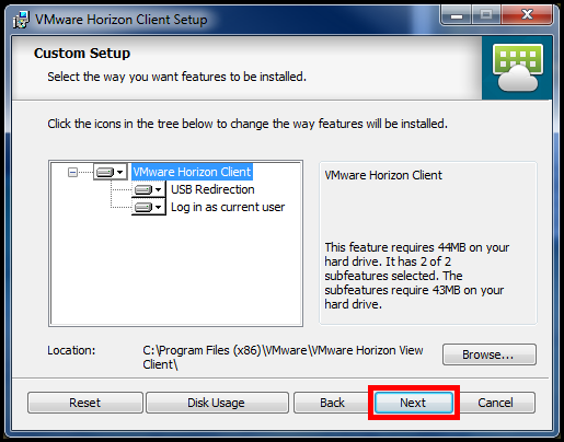 4. The Network protocol configuration dialog box will open. Select IPv4 and click the Next button (See Figure 8).