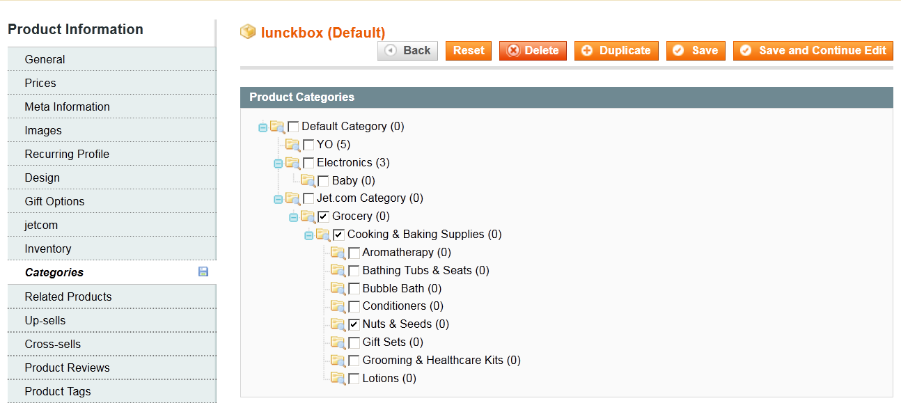 14 ASSIGN CATEGORY TO PRODUCT After the categories get created in Magento, they need to be assigned to the products (if not already assigned to the required category).