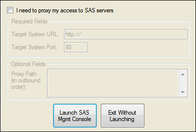 Open SAS Management Console 37 Open SAS Management Console SAS Management Console is the primary interface for managing groups, roles, folders, and permissions for your SAS applications.