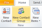 Create a Distribution List (Mail Group) (From the Main Outlook Window Contacts View) If you frequently send emails or meeting notices to a group of people, you will save time by creating a