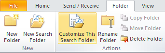 Recover a Missing Unread Mail folder Missing Unread Mail Folder By default your Unread Mail folder is located under the Favorites section (top of folder list on left side).
