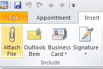 Mark an Entry as PRIVATE Add an Attachment To add an attachment to your calendar entry click on Attach File (ribbon, Insert tab, Include group) Fill in all desired fields.