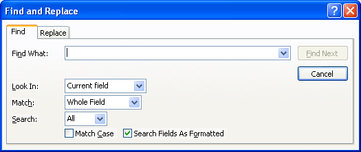 Finding Records In a small database, data may easily be located by navigation, but in a larger database a search method is required.