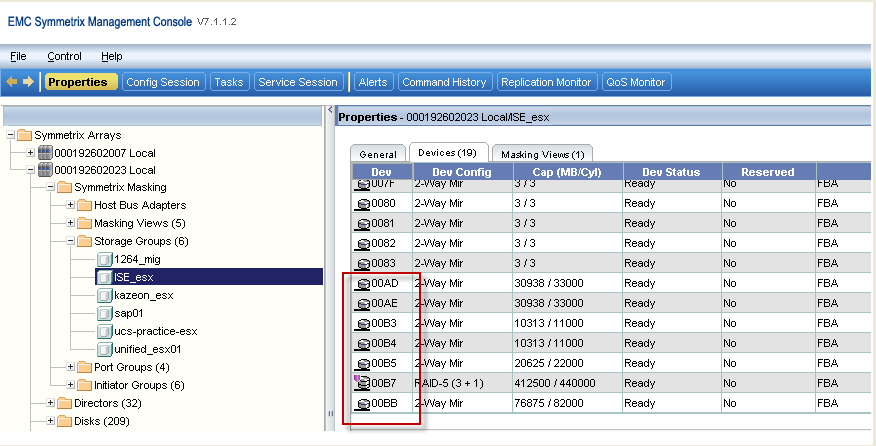 Next, select the volumes you wish to move to the VMware host from the physical SAP host, as shown in Figure 13,