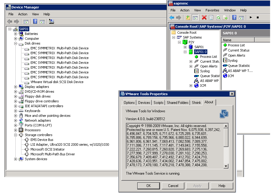 Figure 18 shows that SAP is now running on a virtual machine.