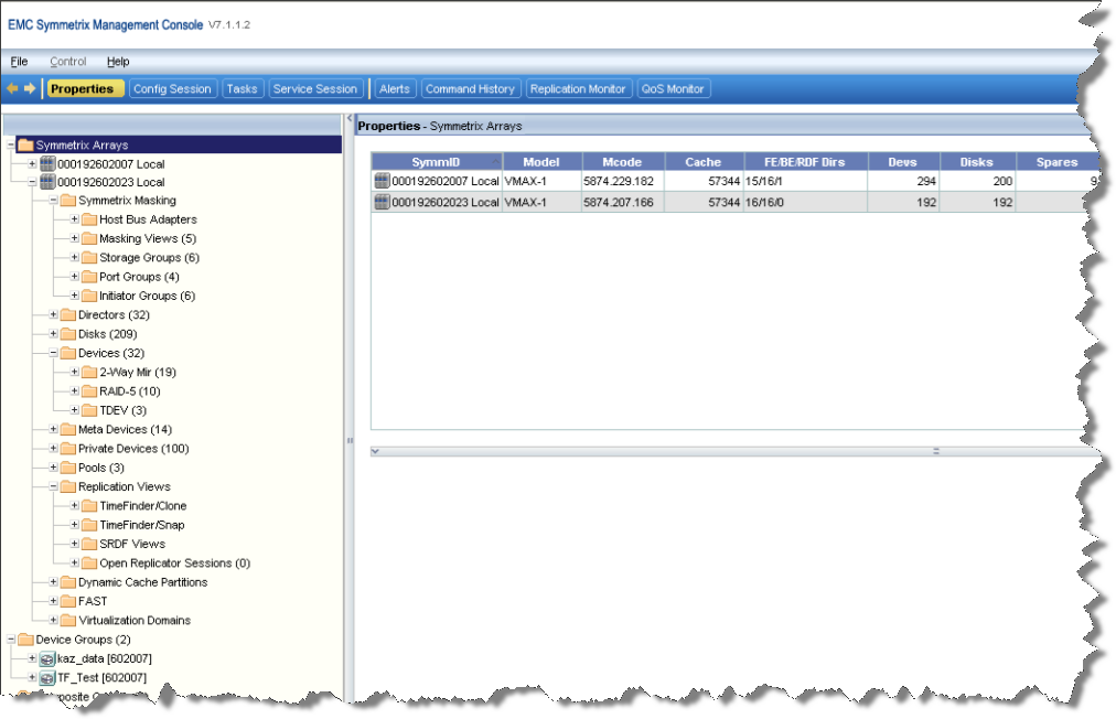 EMC Symmetrix Management Console Symmetrix Management Console (SMC) is a Symmetrix tool that provides companies with an alternative to using scripts when making IT infrastructure changes.