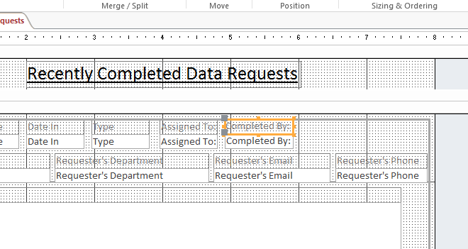 Step 18: To map the data text box to data found within the Completed By field, Click only on the data text box.