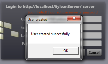 7 Test if server is set up properly Run Eylean client and select connect to server. Then add your server domain in servers list. Connect to it.