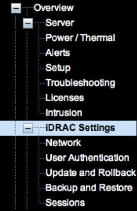 listed in the screen or on the pullout at the front of the appliance. The password is case-sensitive. Configuring the idrac with a Static IP Address 1.