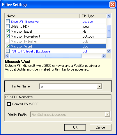 HOT FOLDERS 57 Specifying filter settings for a Hot Folder After specifying the filter settings and options for your Hot Folder, drag and drop the proper file formats onto your Hot Folder to begin
