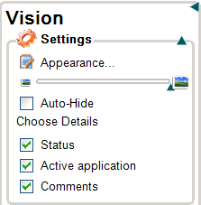 About the Vision Dashboard 45 4. Groups pane To open the Vision Dashboard Double-click the Vision desktop icon on your desktop or click the My Classrooms button in the Floating Toolbar.