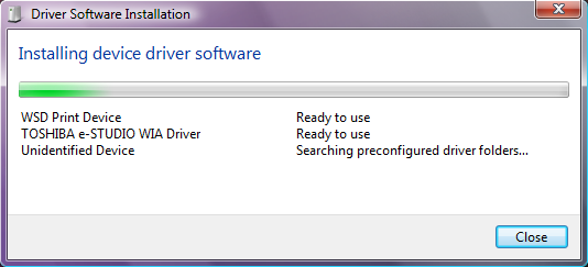 6 INSTALLING SCAN DRIVER AND UTILITIES 4 Click [Continue] in the [User Account Control] dialog box.