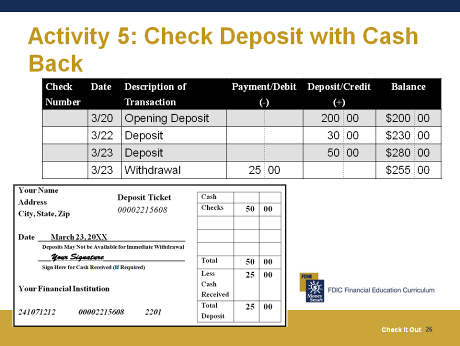 Deposit Only. your checking account. If you deposit more than one check, use a separate line to list the amount of each check.