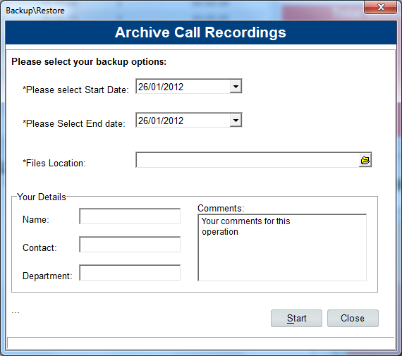 System Settings This function allows the user to add their email account details to send out call recordings and reports.