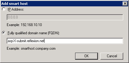 Single Exchange 2007 Server 1. Open the Exchange Management Console. 2. Open Organization Configuration and select Hub Transport. 3. Select the Send Connectors tab. 4.