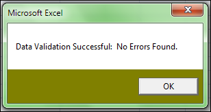 This means that the Sales Report is in the correct format to upload and submit. b. The Errors Found message means that there were errors found in the file.