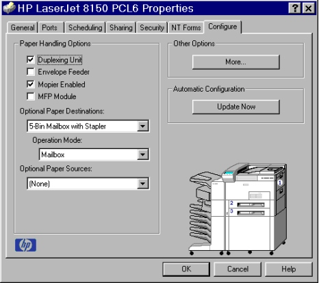 PCL 6 and PCL 5e driver features Driver extensions The Driver extensions text box provides you with some visibility of any extended driver functionality.