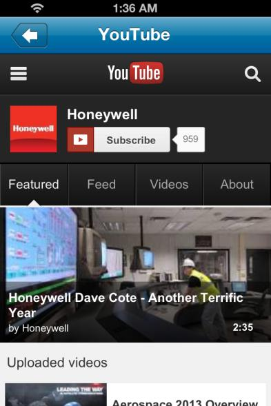 Social Networks Click on any of the social networking sites to visit the Honeywell pages,
