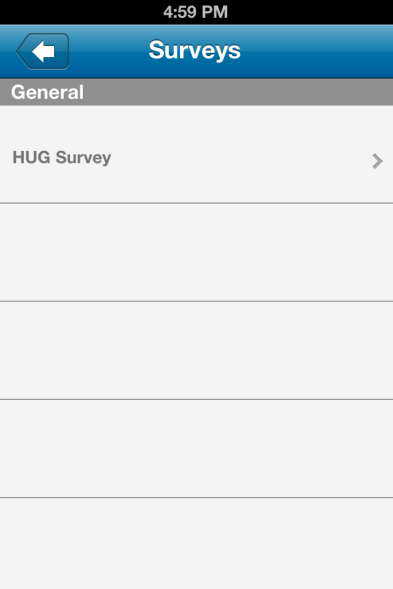Survey Help make HUG better by filling out a survey.