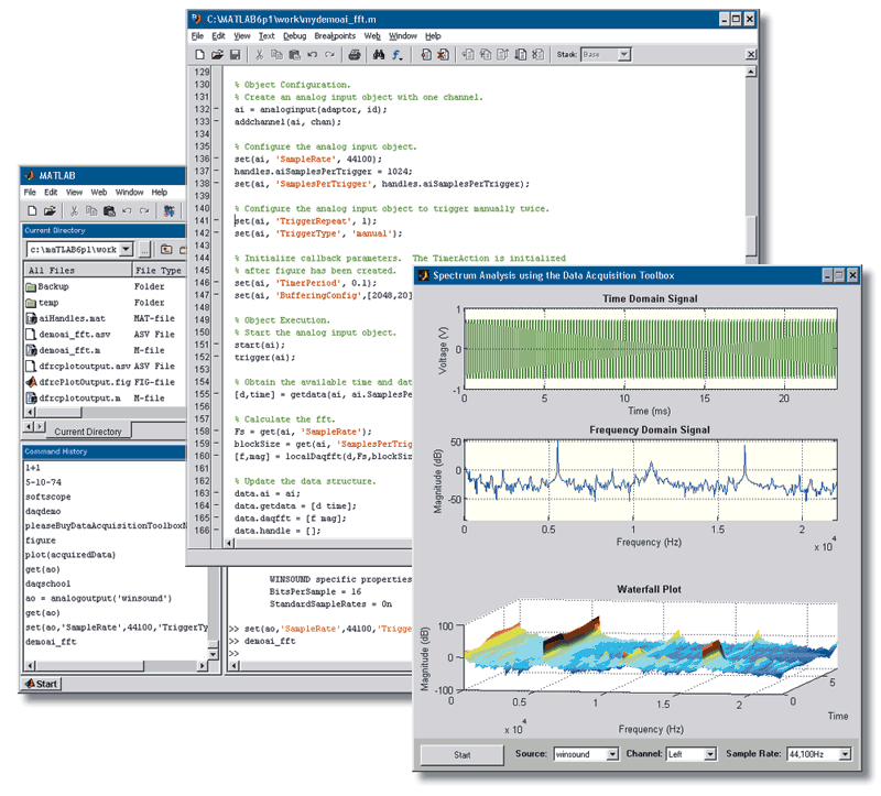 Data Acquisition Toolbox Acquire and output data from data acquisition boards Immediately analyze live or acquired data in MATLAB and Simulink Configure hardware without