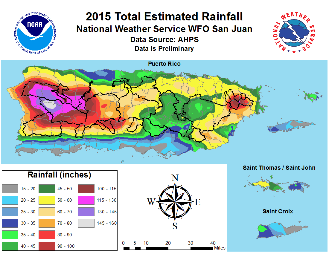 2015 Rainfall Distribution and Catchment