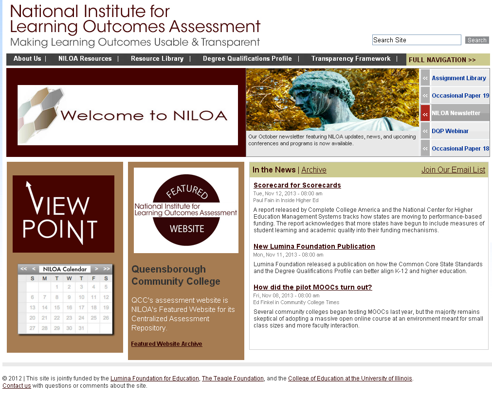 Thank You National Institute for Learning Outcomes Assessment (NILOA): www.