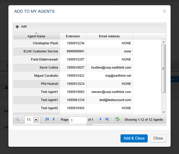 Adding Agents to Monitor Click on the agent(s) you wish to add to