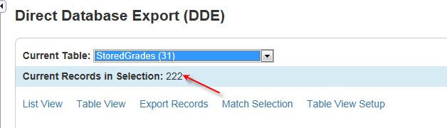 7. Click Match Selectin. The Match USM Selectin page appears. 8. Chse the secnd table t match frm the pp-up menu. (In this example select the Students table frm the drp dwn list) 9.