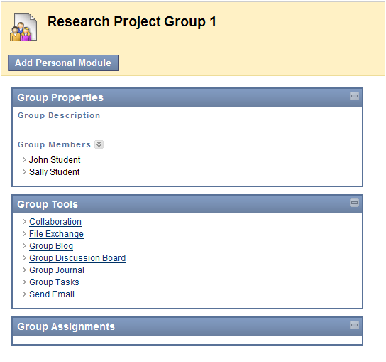 Select the name of your group by clicking on the group name.