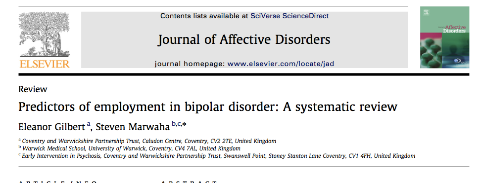 Bipolar and employment Predictors of