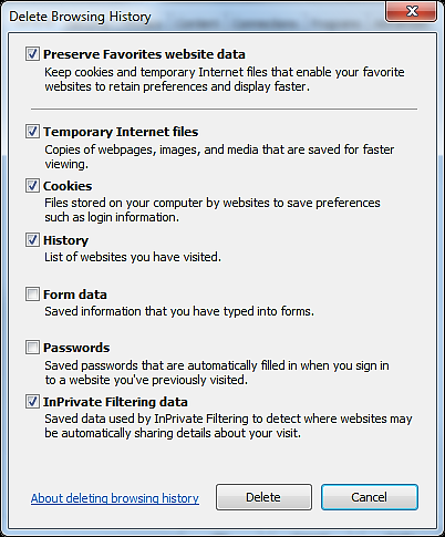 MyReports Recommended Browser Settings MYR-200a Step by Step Instructions -- How to Change Browser Settings INTERNET EXPLORER 1.