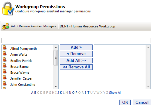 25 Portal Administration User s Guide Setting Workgroup Permissions When a workgroup is first created, only the Workgroup Manager can create, edit and delete workgroup pages and Islands.