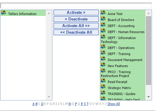 31 Portal Administration User s Guide Workgroup Activation The Workgroup Activation tool is used to activate or deactivate a workgroup.
