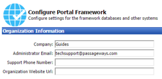 40 Portal Administration User s Guide Working with the Portal Framework Settings Tool The Portal Framework Settings Tool controls some of the most critical configuration items for your portal.