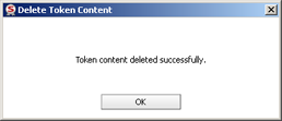 Deleting Token Content 45 3. The Token Logon window opens. 4. Enter the Token Password, and click OK.