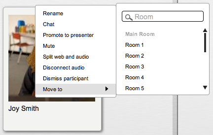 In Meeting Invites You can also invite participants by using the quick invite tool.