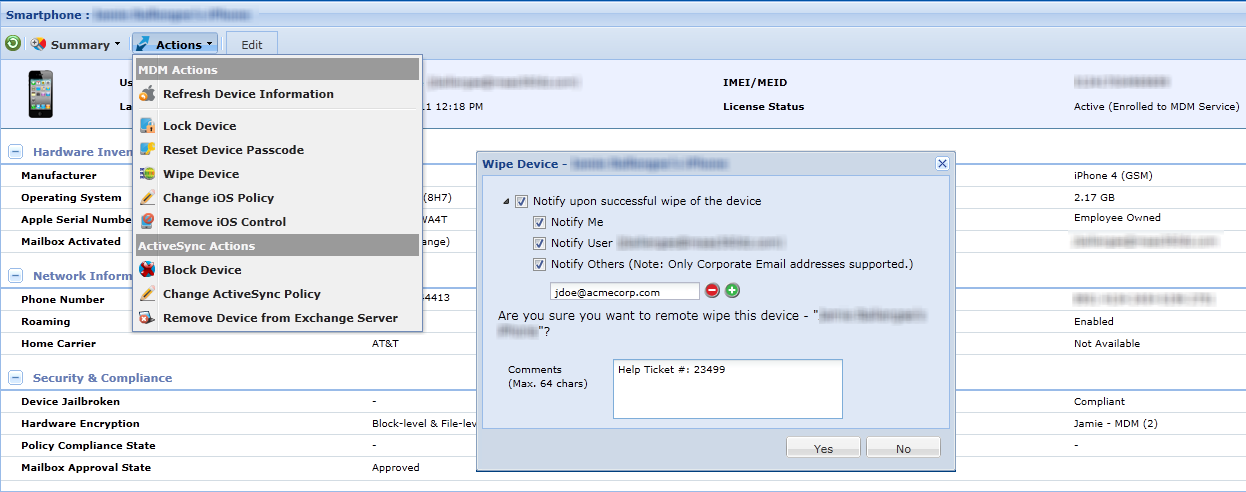 Step 1: Enroll and Configure Devices OTA Identify corporate vs.